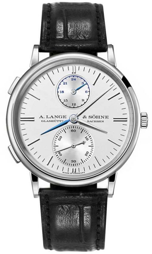 A. Lange & Sohne Saxonia Dual Time 38.5mm Mens Watch, 386.026