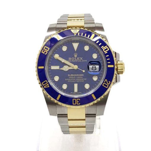 Rolex Oyster Perpetual Submariner 18K Yellow Gold & Stainless Steel & Ceramic Men's Watch, 116613 LB