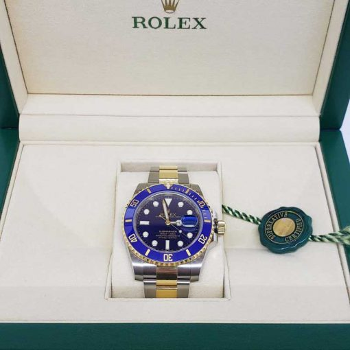 Rolex Oyster Perpetual Submariner 18K Yellow Gold & Stainless Steel & Ceramic Men's Watch, 116613 LB 3