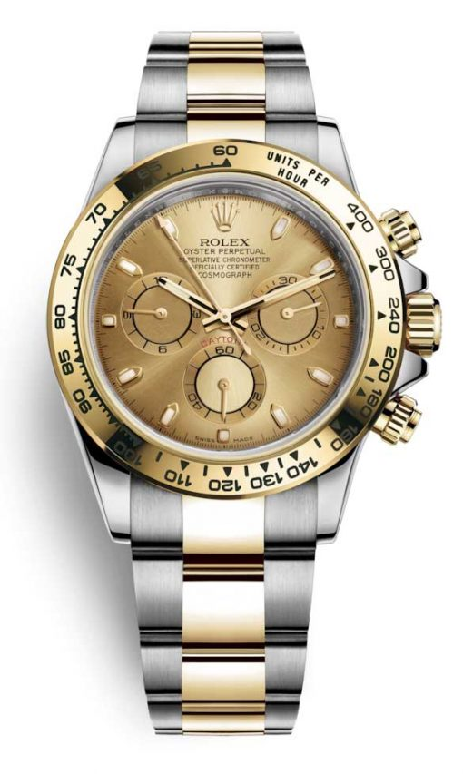 Rolex Oyster Perpetual Cosmograph Daytona Stainless Steel & 18K Yellow Gold Watch, 116503 chs 3
