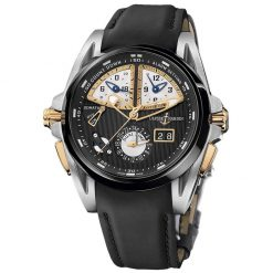 Ulysse Nardin Sonata Streamline Titanium Perpetual Calendar Ceramic Gold Rubber Men's Watch preowned.675-00-4