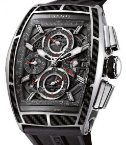 Cvstos Chrono II Challenge GT Men's Watch, Steel with Black Carbon Cvstos-Chrono-2-Challenge-GT-Carbon-Steel
