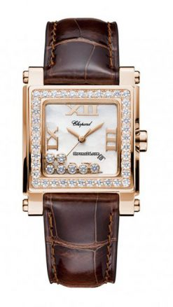 Chopard Happy Sport 18K Rose Gold & Diamonds Ladies Watch 275321-5002