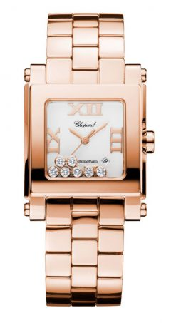Chopard Happy Sport 18K Rose Gold & Diamonds Ladies Watch 275322-5001