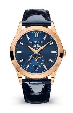 Patek Philippe Complications 38,5mm Rose Gold Blue Dial Men's Watch 5396R-015