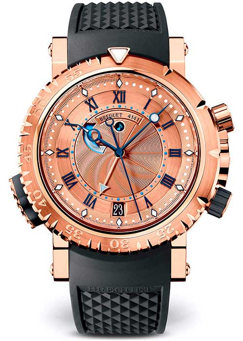 Brequet Marine 5847 18K Rose Gold Men's Watch, 5847BR/32/5ZV