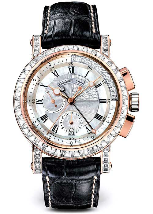 Brequet Marine 5829 18K Rose Gold & Diamonds Unisex Watch, 5829BR/8D/9ZU/DD0D