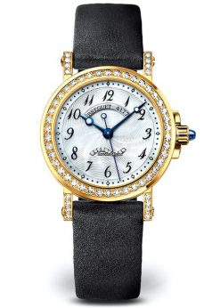 Brequet Marine 8818 18K Yellow Gold & Diamonds Ladies Watch 8818BA/59/864/DD0D