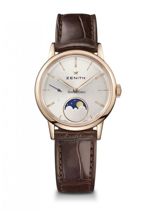 Zenith Elite Lady Moonphase 18K Rose Gold Ladies Watch, 18.2330.692/01.C713