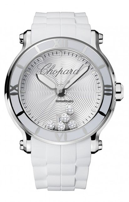 Chopard Happy Sport Stainless Steel & Diamonds Ladies Watch, 288525-3002