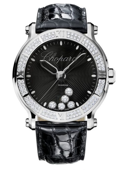 Chopard Happy Sport Stainless Steel & Diamonds Ladies Watch, 288525-3006