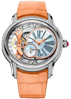 Audemars Piguet Millenary Hand-Wound 18K White Gold & Diamonds Ladies Watch 77247BC.ZZ.A813CR.01