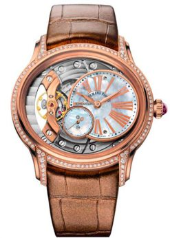 Audemars Piguet Millenary Hand-Wound 18K Pink Gold & Diamonds Ladies Watch 77247OR.ZZ.A812CR.01