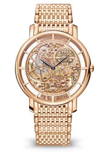 Patek Philippe Complications Skeletonized Ultra Thin 39mm Rose Gold Men's Watch with Bracelet, 5180/1R-001