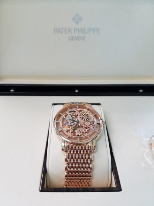 Patek Philippe Complications Skeletonized Ultra Thin 39mm Rose Gold Men's Watch with Bracelet, 5180/1R-001 8