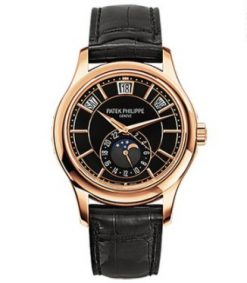 Patek Philippe Complications 40.2mm Rose Gold Black Dial Men's Watch 5205R-010