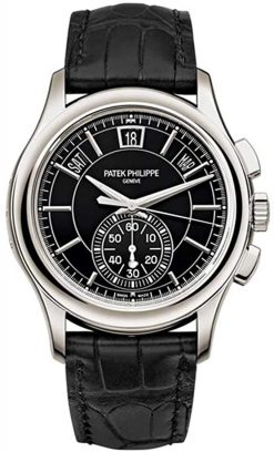 Patek Philippe Annual Calendar Chronograph Platinum Black Dial Men's Watch 5905P-010