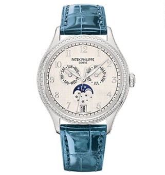 Patek Philippe Complications 38mm White Gold Lady's Watch, 4947G-010