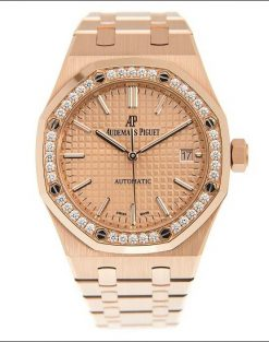 Audemars Piguet Royal Oak 18K Pink Gold & Diamonds Ladies Watch 15451OR.ZZ.1256OR.03