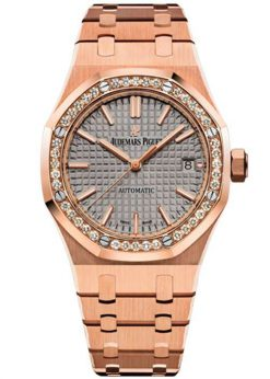 Audemars Piguet Royal Oak 18K Pink Gold & Diamonds Ladies Watch 15451OR.ZZ.1256OR.02