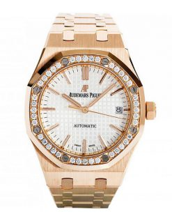 Audemars Piguet Royal Oak 18K Pink Gold & Diamonds Ladies Watch 15451OR.ZZ.1256OR.01