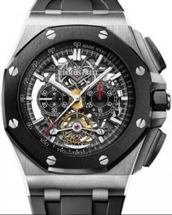 Audemars Piguet Royal Oak Offshore Tourbillon Chronograph Openworked Titanium Men's Watch 26348IO.OO.A002CA.01