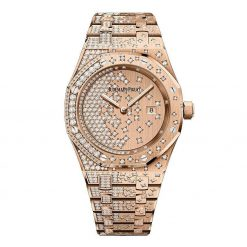 Audemars Piguet Royal Oak Quartz 18K Pink Gold & Diamonds Ladies Watch 67654OR.ZZ.1264OR.01
