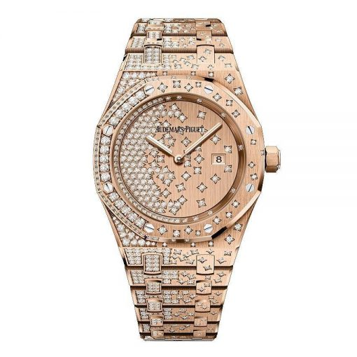 Audemars Piguet Royal Oak Quartz 18K Pink Gold & Diamonds Ladies Watch, 67654OR.ZZ.1264OR.01