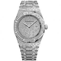 Audemars Piguet Royal Oak Quartz 18K White Gold & Diamonds Ladies Watch 67654BC.ZZ.1264BC.01