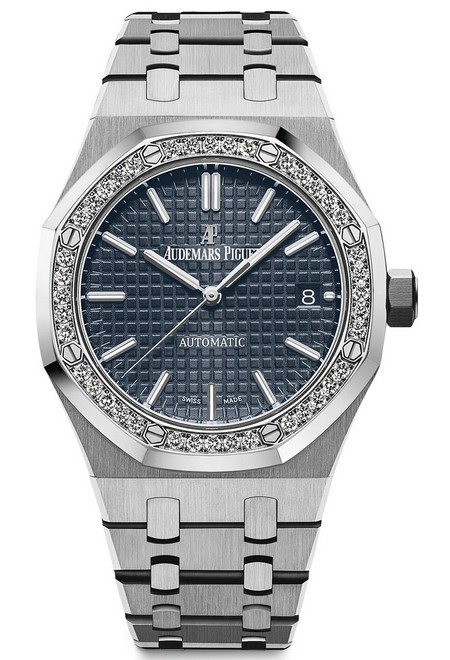 Audemars Piguet Royal Oak Stainless Steel & Diamonds Ladies Watch, 15451ST.ZZ.1256ST.03