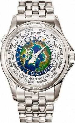 Patek Philippe Complications 39,5mm Platinum World Time Men's Watch 5131/1P-001
