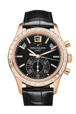 Patek Philippe Complications Annual Calendar Chronograph Rose God Diamonds Men's Watch 5961R-010