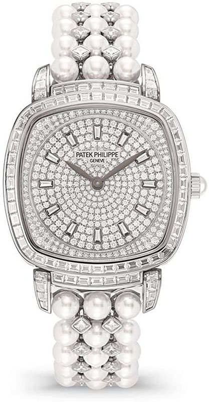 Patek Philippe Gongolo White Gold and Diamonds Ladies Watch, 7042/100G-010