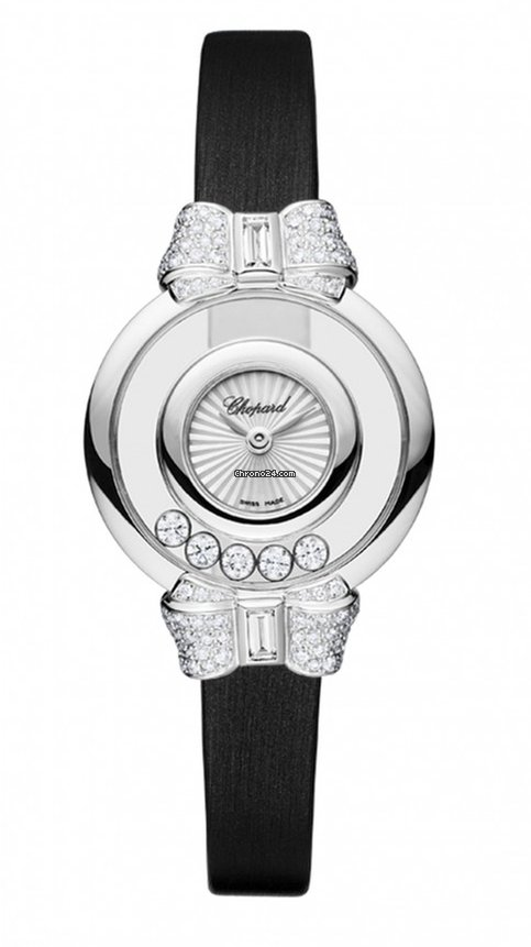 Chopard Happy Diamonds Icons 18K White Gold & Diamonds Ladies Watch, 209425-1001