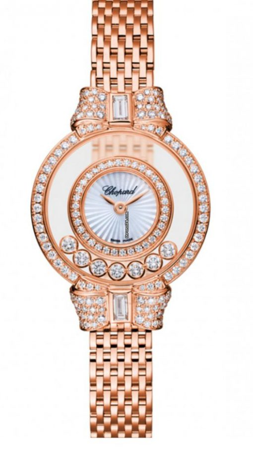 Chopard Happy Diamonds Icons 18K Rose Gold & Diamonds Ladies Watch, 205596-5201