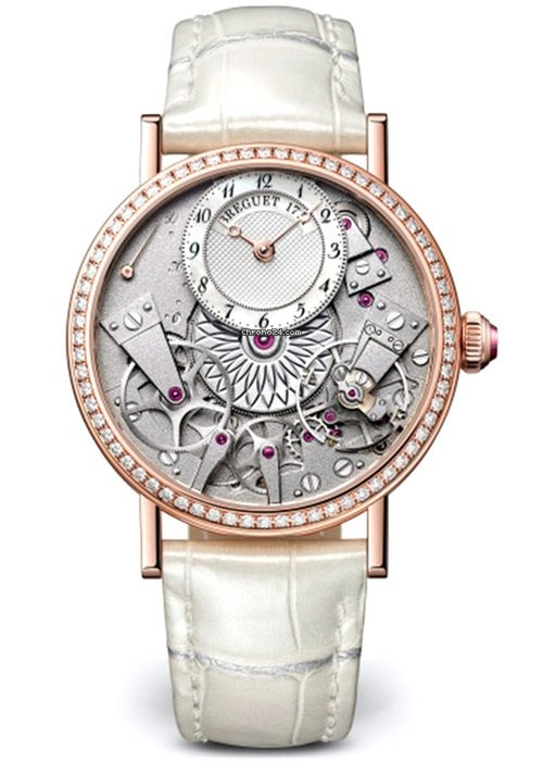 Brequet Tradition Dame 7038 18K Rose Gold & Diamonds Ladies Watch, 7038BR/18/9V6/D00D
