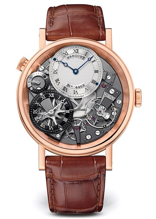 Brequet Tradition 7067 18K Rose Gold Men's Watch, 7067BR/G1/9W6