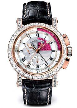 Brequet Marine 5829 18K Rose Gold & Diamonds Unisex Watch 5829BR/8R/9ZU/DD0D