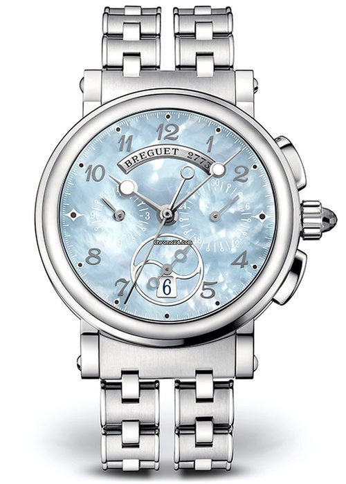 Brequet Marine 8827 Stainless Steel Ladies Watch, 8827ST/59/SM0