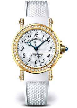 Brequet Marine 8818 18K Yellow Gold & Diamonds Ladies Watch 8818BA/59/564/DD00