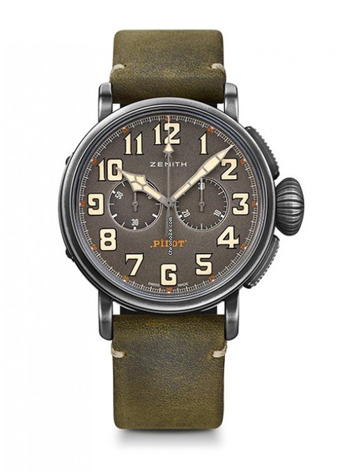 Zenith Pilot Type 20 Chronograph Ton-Up Stainless Steel Men's Watch, 11.2430.4069/21.C773