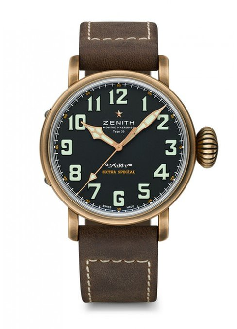 Zenith Pilot Type 20 Extra Special Bronze Men's Watch, 29.2430.679/21.C753