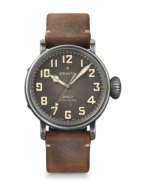 Zenith Pilot Type 20 Extra Special Ton Up Stainless Steel Men's Watch, 11.2430.679/21.C801