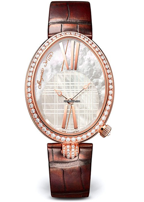 Brequet Reine de Naples 8965 18K Rose Gold & Diamonds Ladies Watch, 8965BR/5W/986-DD0D