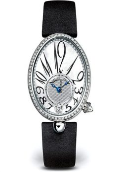 Brequet Reine de Naples 8918 18K White Gold & Diamonds Ladies Watch 8918BB/58/864/D00D