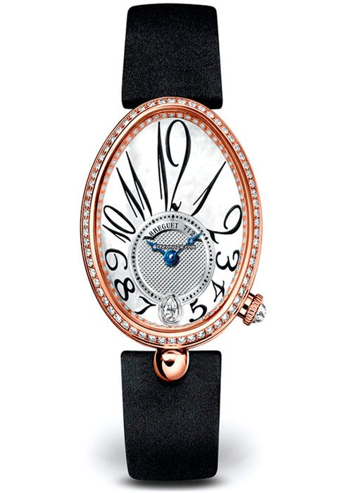 Brequet Reine de Naples 8918 18K Rose Gold & Diamonds Ladies Watch, 8918BR/58/864/D00D