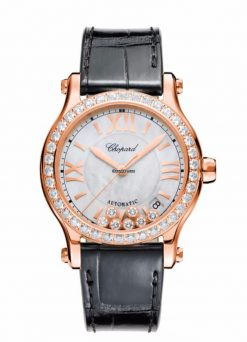 Chopard Happy Sport 18K Rose Gold & Diamonds Ladies Watch 274808-5006