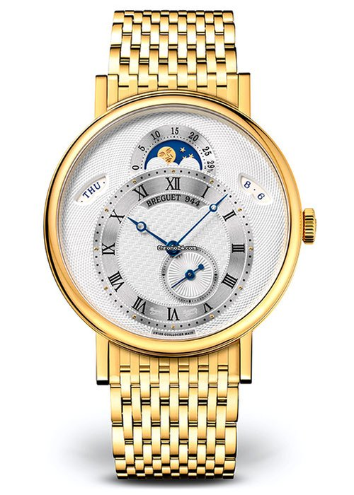 Brequet Classique 7337 18K Yellow Gold Men's Watch, 7337BA/1E/AV0