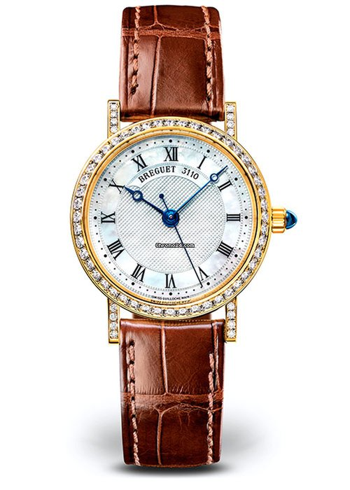 Brequet Classique 8068 18K Yellow Gold & Diamonds Ladies Watch, 8068BA/52/964/DD00