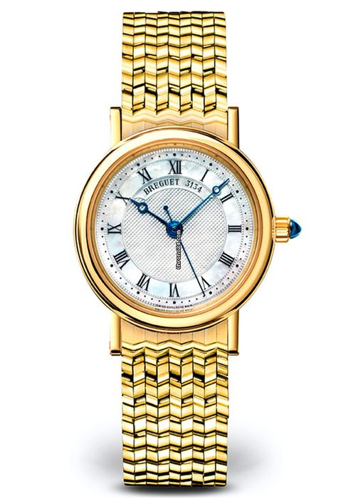 Brequet Classique 8067 18K Yellow Gold Ladies Watch, 8067BA/52/AC0